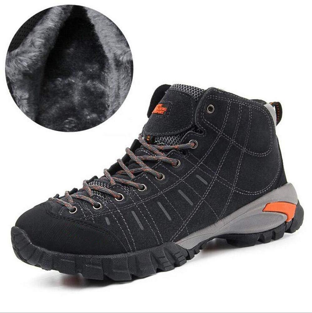 Oudan sportsAutumn und Winter Plus Kaschmir warm warm warm hoch, um Klettern Schuhe Wanderschuhe Outdoor-Baumwolle Schuhe groß zu helfen (Farbe   Grau, Größe   42) d2047a