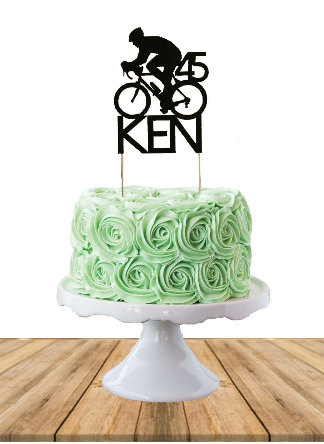 Brilliant Amazon Com Cycling Cake Topper Birthday Cake Topper Funny Birthday Cards Online Overcheapnameinfo