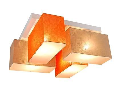 Lámpara de techo con paneles blejl s416d de madera maciza/Casa ...