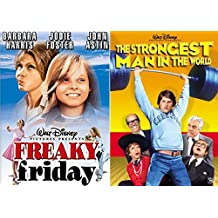 Walt Disney Pictures Freaky Friday Movie + The Strongest Man in the World Family DVD set