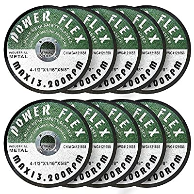"""4 1/2"""" x 1/16"""" x 5/8"""" PREMIUM CUT OFF WHEELS - 10 PACK -, For Cutting all Ferrous Metals and Stainless Steel"""