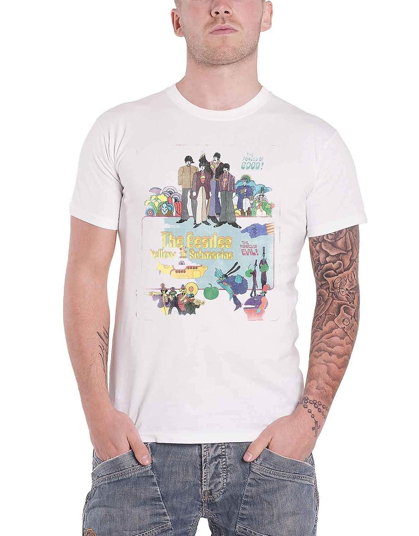 G/én/érique The Beatles T Shirt Yellow Submarine Vintage Movie Affiche Officiel Homme