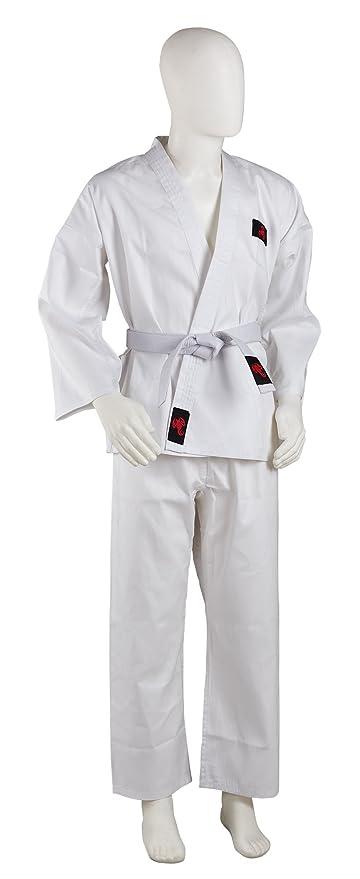 Adults KMA Karate Gi Black Polycotton Student Karate Suit GI Free White Belt