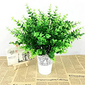 FYYDNZA 1 Fake Plant Green Leaves Flowers Potted Plants Office Artificial Plants For Decoration Wedding Room Decoration Plant 82