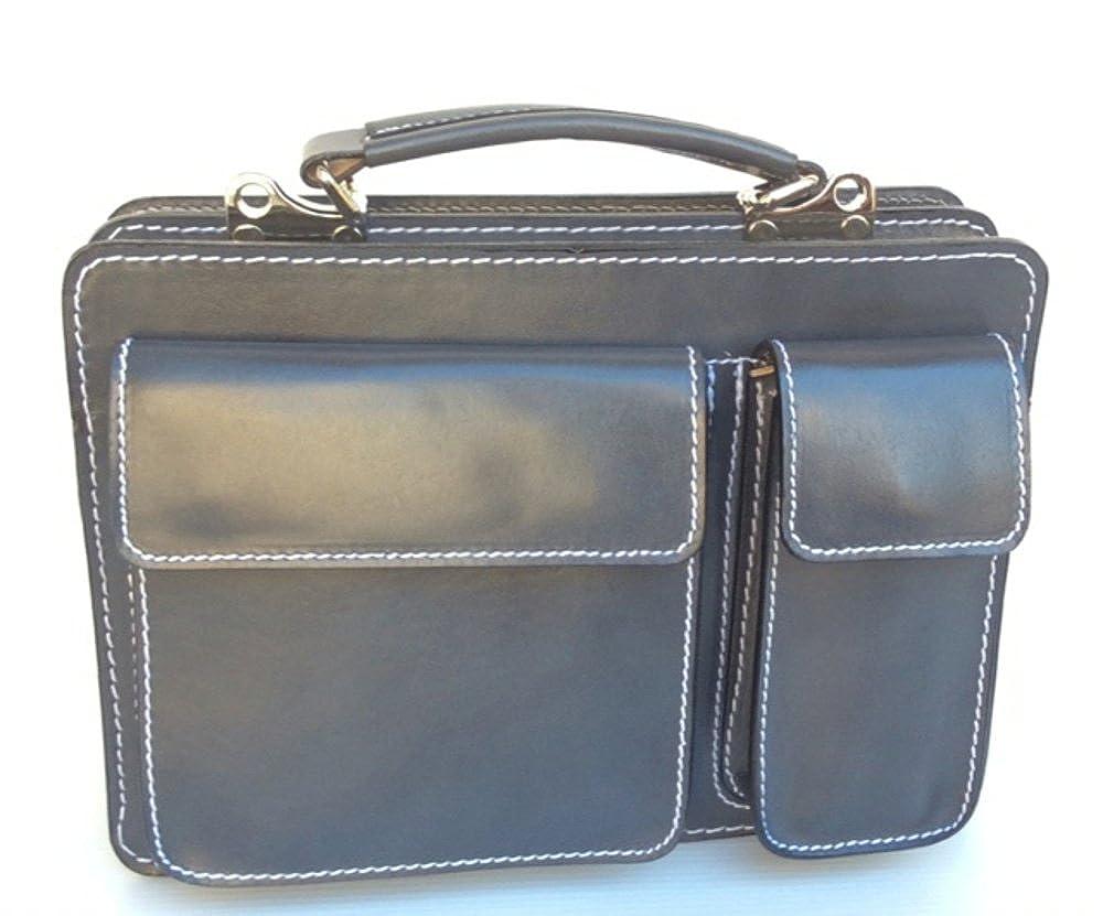 Superflybags Borsa Uomo Piccola Porta Tablet Vera Pelle Made in Italy  modello Classic M 28x20x9 CLAM-FU 95cb704cc21