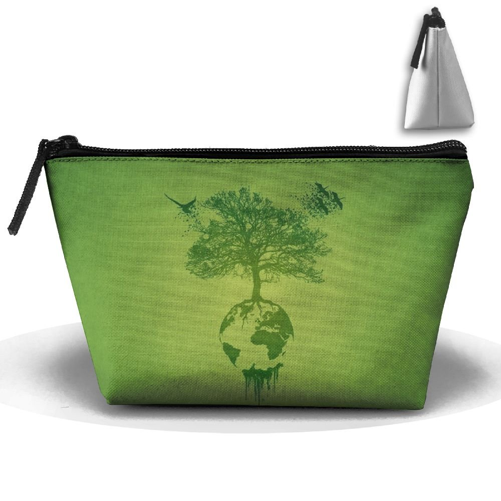 Trees Nature Green Birds Planet Africa Drawing Minimalism Plants Wood Branch Europe Fashion Travel Bag Trapezoid by WQWSVX (Image #1)