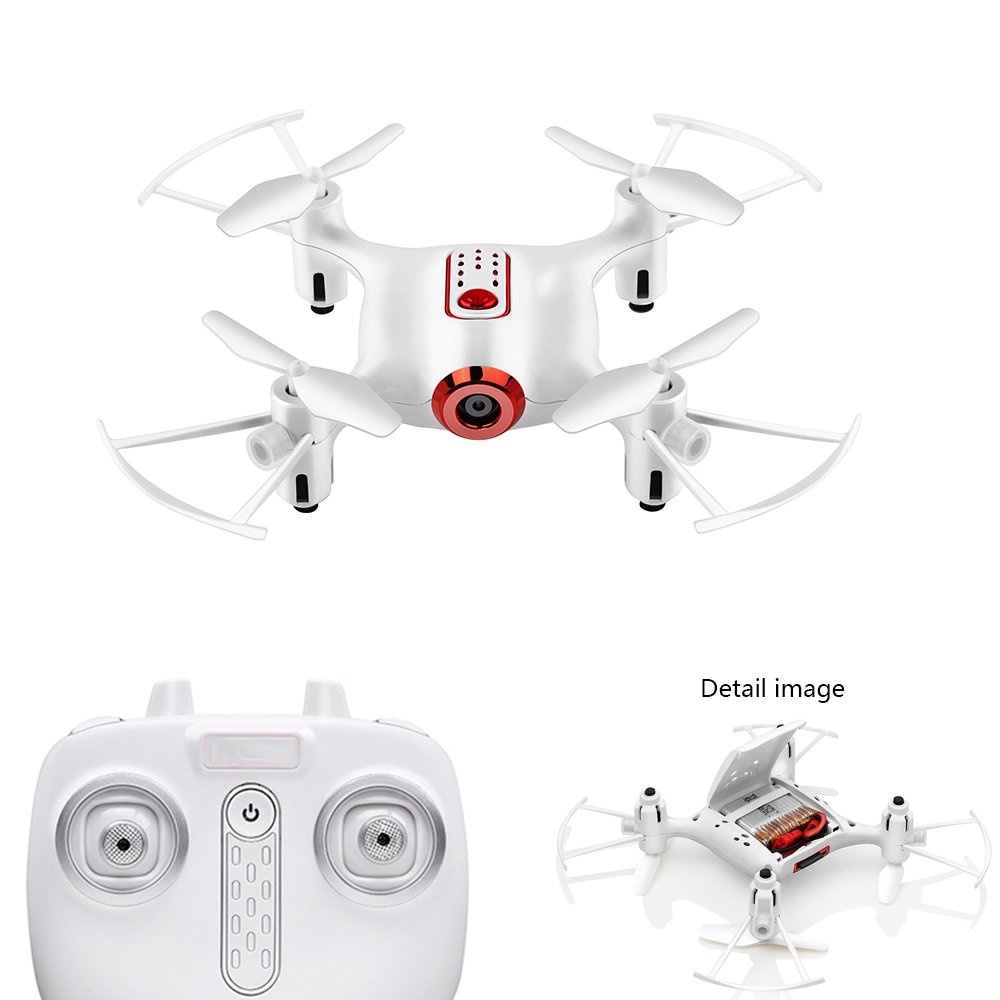 YMXLJJ FPV Remote Control Drone Y Cámara con Cámara Live Video WiFi 2.4Ghz 480P 6-Axis Gyro Quadcopter 360 ° Flip, Modo Sin Cabeza, Retención De Altura,White