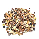 600 PCS Mixed Size Color Shapes Buttons Lot for Crafts Sewing Decorations, 2 Holes and 4 Holes