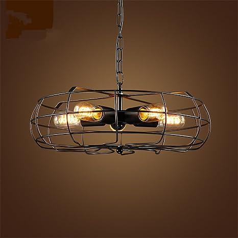 Ventilador de techo eléctrico,5-luz Led Plafón,Industrial ...