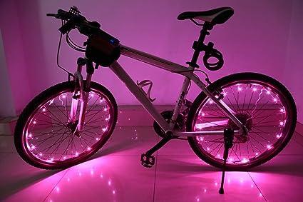 Luce led bici raggi bicicletta camtoa luci wheel impermeabile led