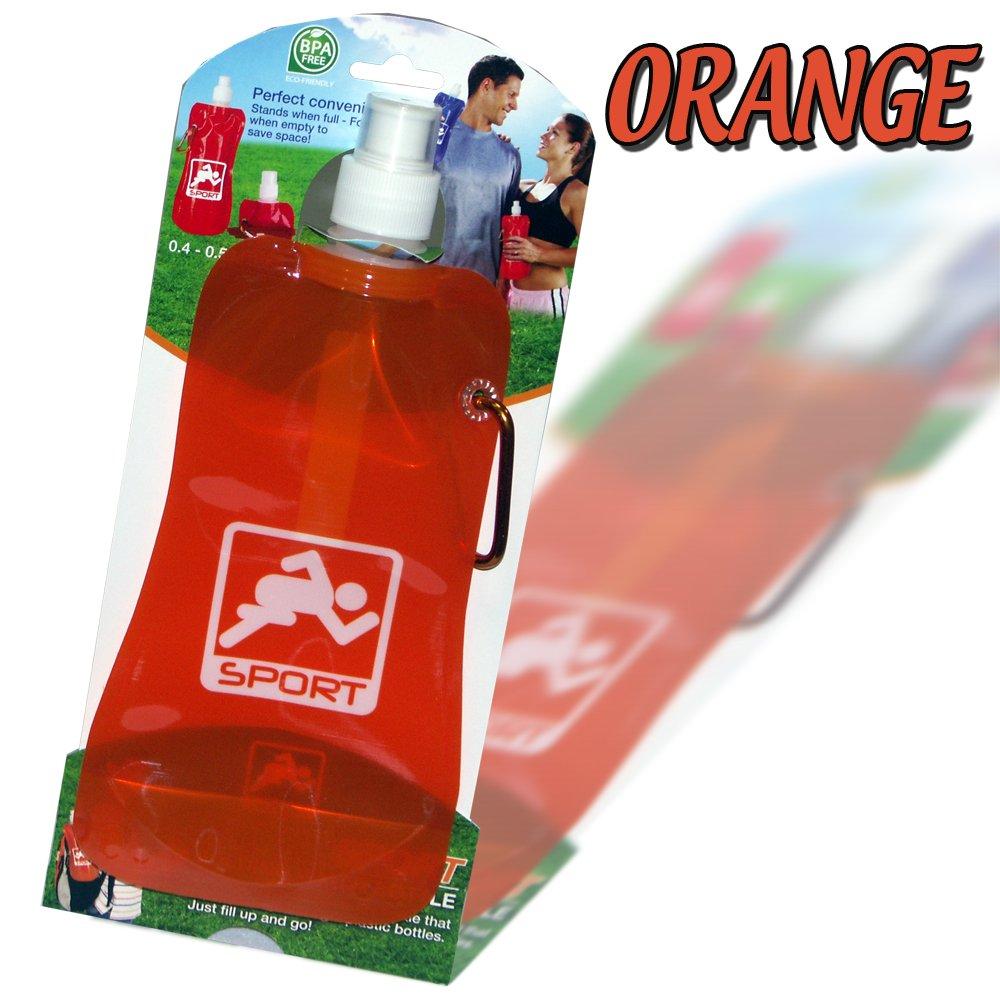 Kids Drinks Bottle Travel Water Juice Folding Sports Collapsible School Camping Orange