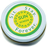 SIT. STAY. FOREVER. SAFETY FIRST PET PRODUCTS Organic Sunscreen & Moisturizer for Dogs and Cats, All Natural, Waterproof, Red