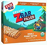 CLIF KID ZBAR FILLED Organic Energy Bar - Double Peanut Butter 1.06ozx5 bars, total 5.3oz