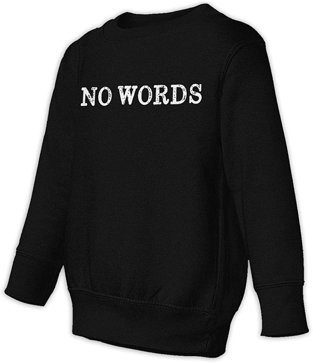 No Fist No Fun Boys Girls Pullover Sweaters Crewneck Sweatshirts Clothes for 2-6 Years Old Children