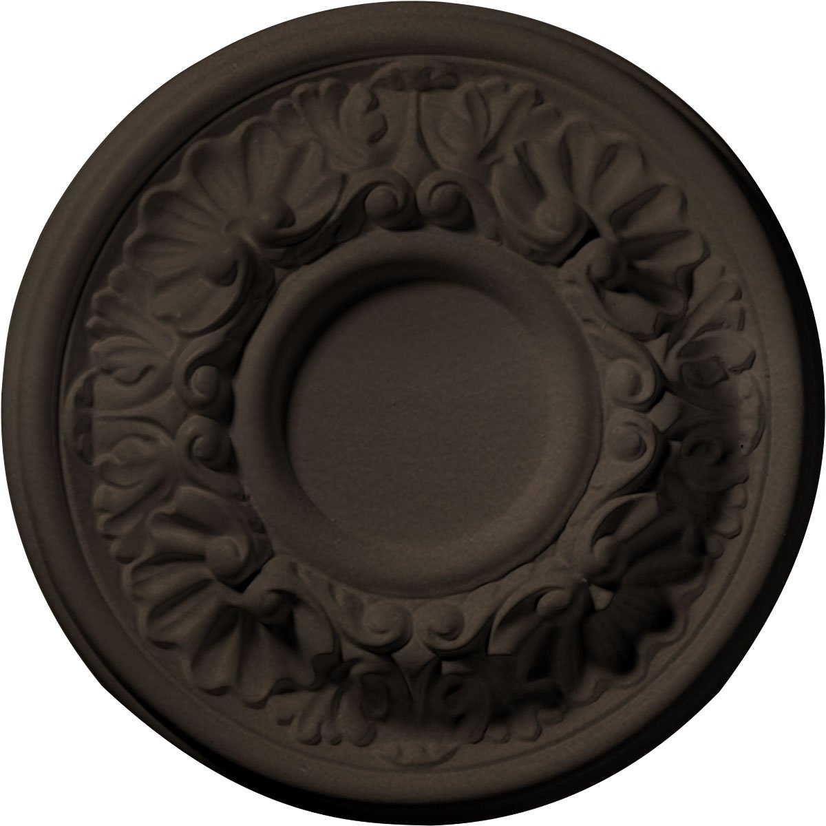 Ekena Millwork CM07ODBZS Ceiling Medallion 7 OD x 1 1/8'' P Odessa (fits Canopies up to 2 1/2''), Bronze