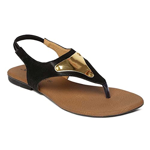 d7d2022d7f59a PARAGON SOLEA Plus Women s Black Sandals  Buy Online at Low Prices in India  - Amazon.in