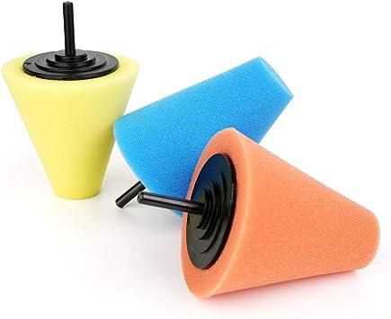 3Pcs Sponge Wheel Round Metal Polishing Foam Pad Car Surface Wash Hub Care Drill
