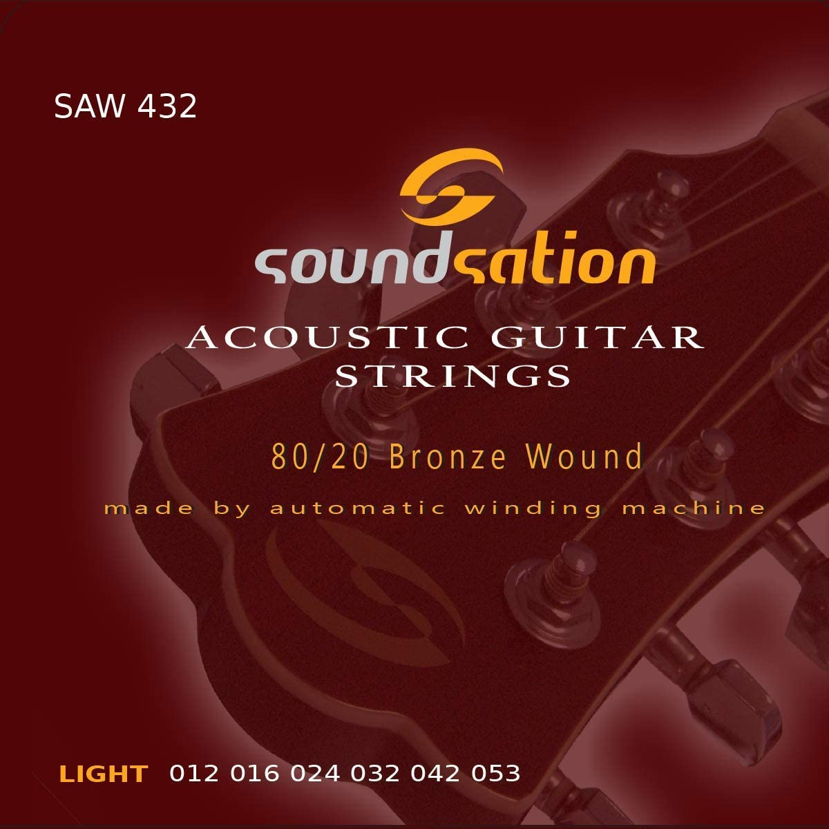 Cuerdas para guitarra acústica SOUNDSATION SAW432 tensión (12-53) light