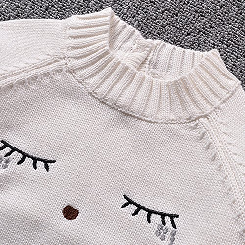 fb85cca37 KONFA Baby Girls Boys Expression Knitting Sweater Blouse