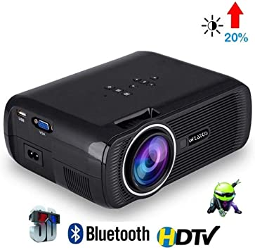 HD CTL80 Android 6 WiFi Smart Portable Mini LED Proyector de TV 3D ...