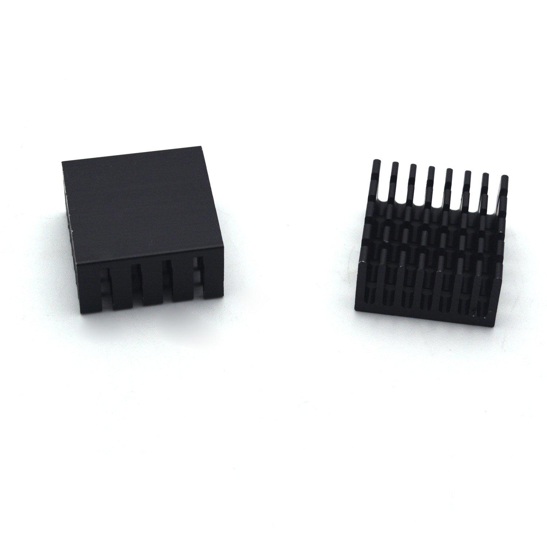 LTD NA Antrader 20mm x 20mm x 10mm Aluminum Heatsink Radiator Heat Sink Black Pack of 12 Guangzhou Openfind Electronic Commerce CO