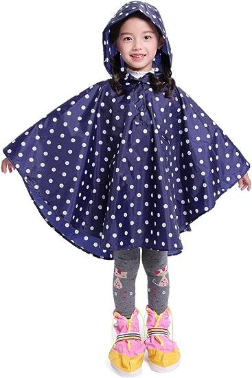 Rain Coat,Waterproof Raincoat,Portable Rain Poncho Women Polka Dot with Pockets