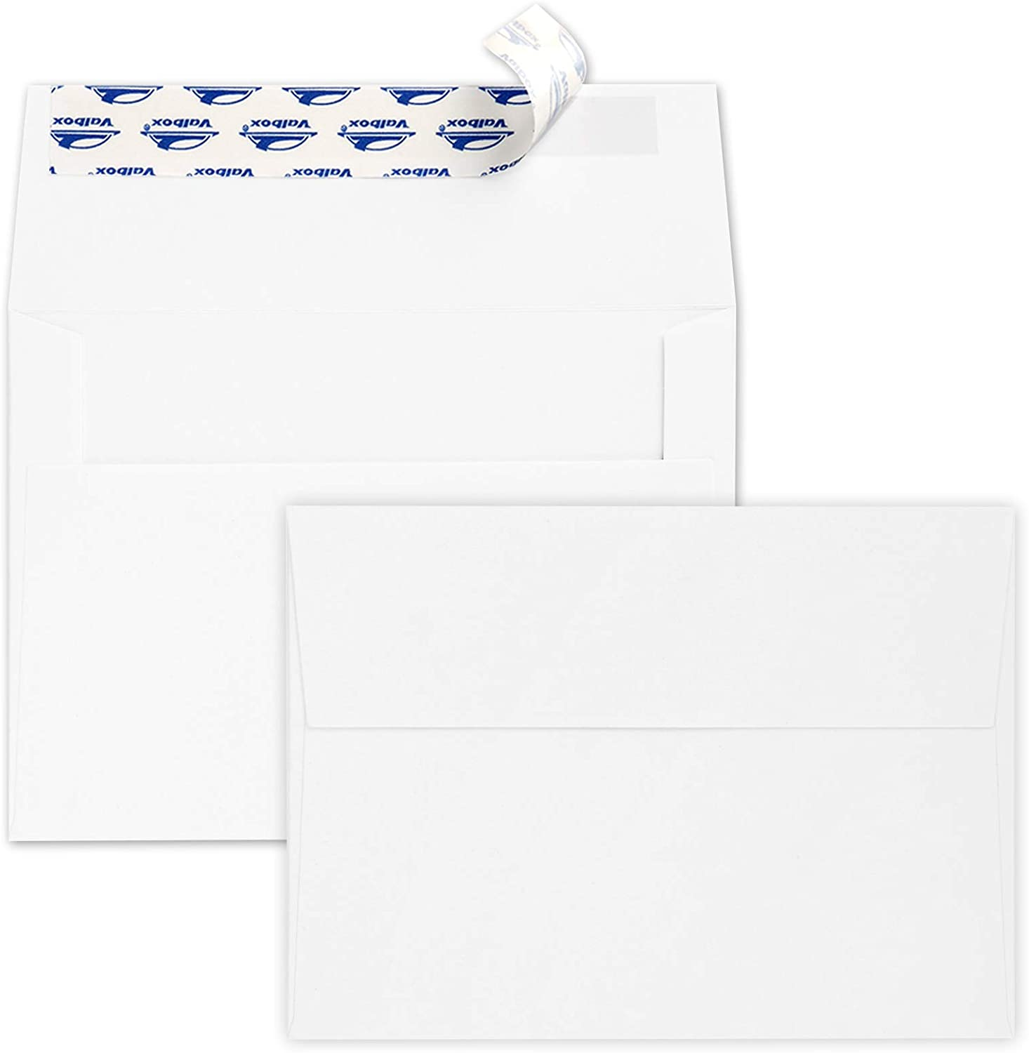 ValBox 200 Qty A7 Invitation Envelopes 5 x 7, 120GSM White Kraft Paper Envelopes for 5x7 Cards, Self Seal, Weddings, Invitations, Baby Shower, Stationery, Office, 5.25 x 7.25 Inches : Office Products