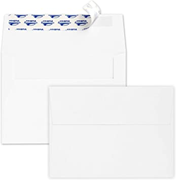 Amazon Com Valbox 200 Qty A7 Invitation Envelopes 5 X 7 120gsm White Kraft Paper Envelopes For 5x7 Cards Self Seal Weddings Invitations Baby Shower Stationery Office 5 25 X 7 25 Inches Office Products