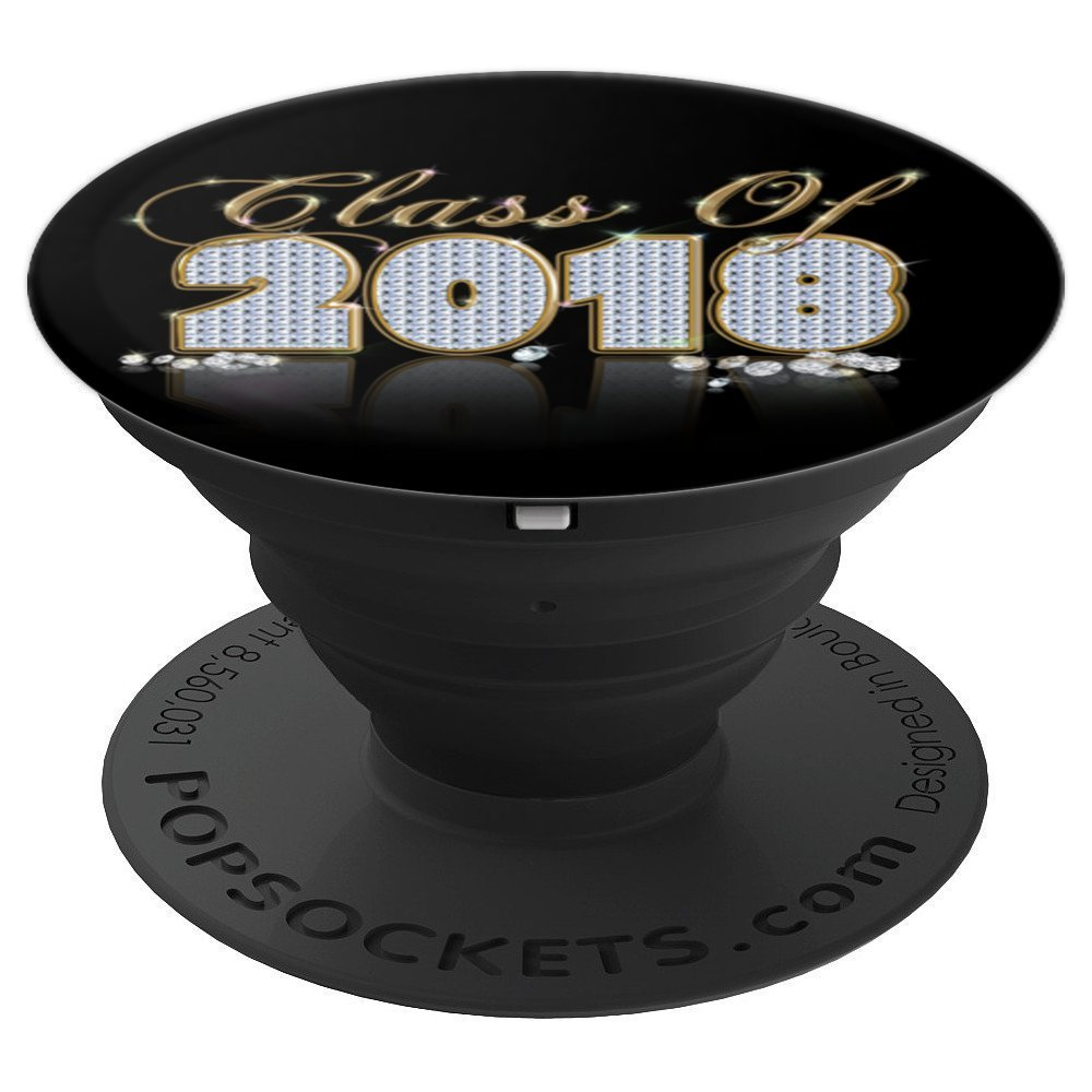 Class of 2018 High School Senior Graduation Diamonds Gift - PopSockets Grip and Stand for Phones and Tablets