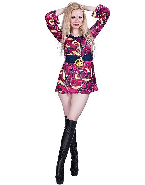 on sale 7c63c ebec3 Fantast Costumes Donna Sexy Moda Hippie Anni 60 Decades ...