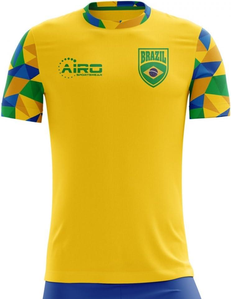 Airo Sportswear 2018-2019 Brazil Home Concept Football Soccer T-Shirt