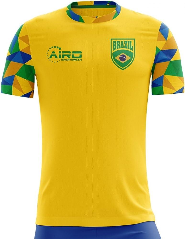 Airosportswear 2020-2021 Brazil Home Concept Football Soccer T-Shirt Jersey