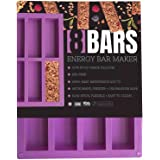 Premium Food Grade Silicone, 8 Cavity, Purple Nutrition/Energy/Cereal Bar Mold by 8Bars Energy Bar Maker, Flexible, High…