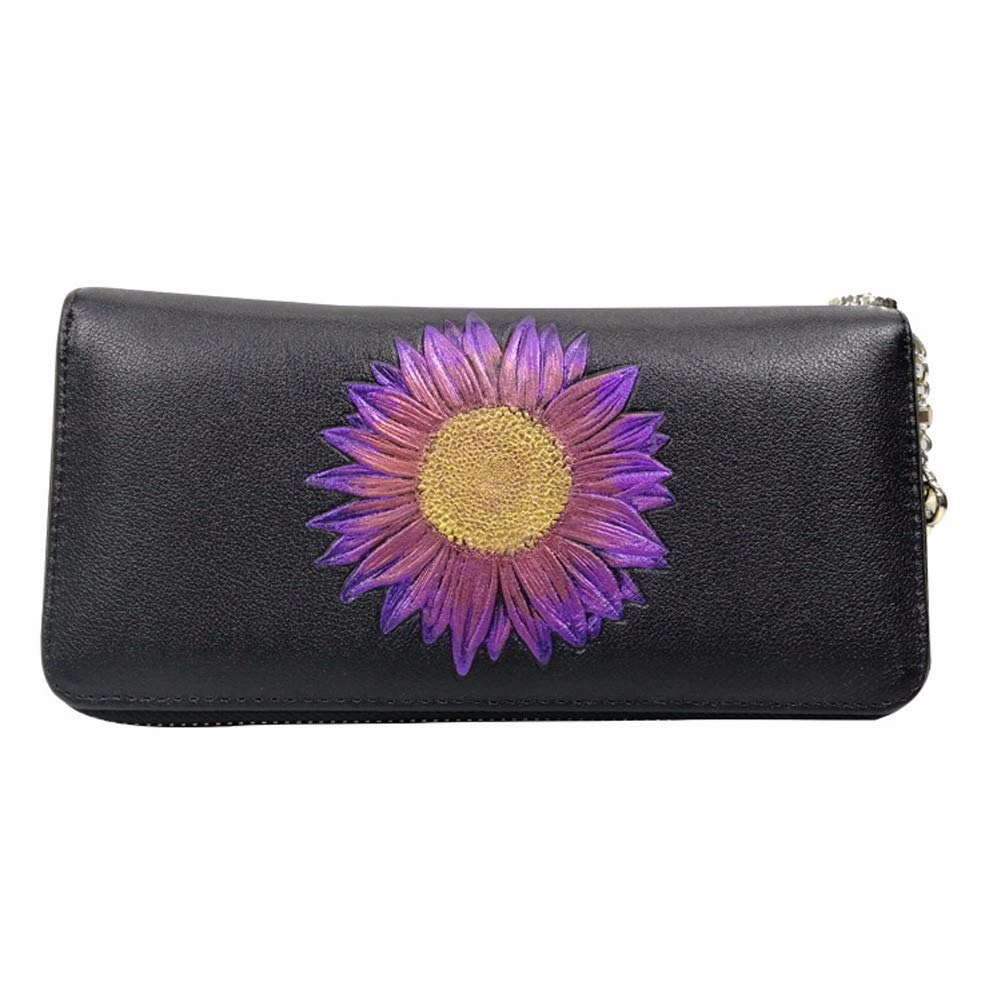 Surnoy Single Fashion Zipper Lady Hand Bag, Long Leather Wallet in Leather, Simple Fashion Female Package.