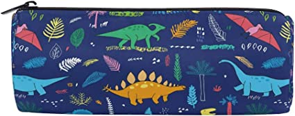 Bonie - Estuche para lápices con diseño de dinosaurios de dibujos animados: Amazon.es: Oficina y papelería