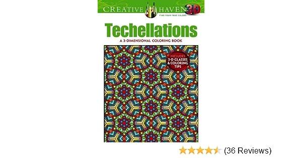 Amazon Creative Haven 3 D Techellations Coloring Book Adult 9780486790886 John Wik Books