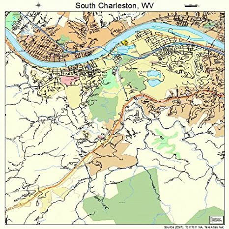 South Virginia Map.Amazon Com Large Street Road Map Of South Charleston West