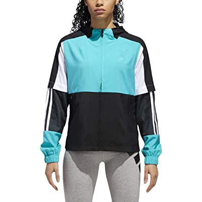 .com : adidas Athletics Sport ID Wind Jacket, Hi-Res Aqua/ black/ White, X-Large : Clothing