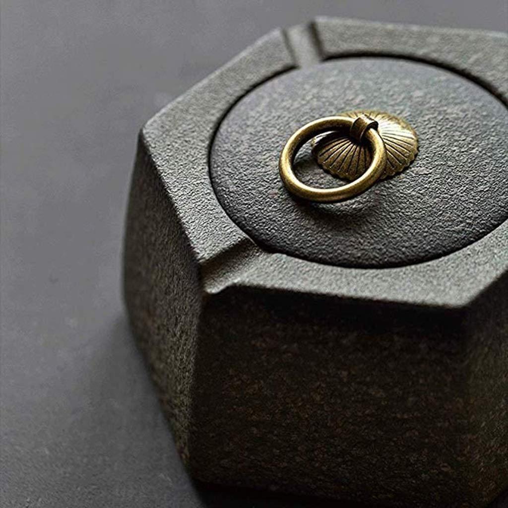 LPYMX-ashtray Cendrier en c/éramique de personnalit/é cr/éative Tendance Tendance Salon Maison avec Housse de Bureau Coupe-Vent Grand Ornements