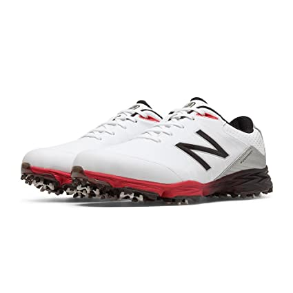6b25aae0b9f0b Amazon.com: New Balance Mens Nbg2004 Golf Shoes White/Red 4E 10 ...