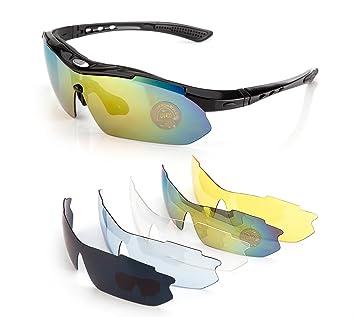 ONVAYA® Polarisierte UV400 Sportsonnenbrille 9 Teilig 0E47ZbK
