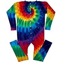 Tie Dyed Shop 12 Color Spiral Tie Dye Underwear Union Suit for Men Women
