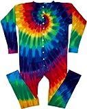 12 Color Spiral Tie Dye Union Suit Underwear