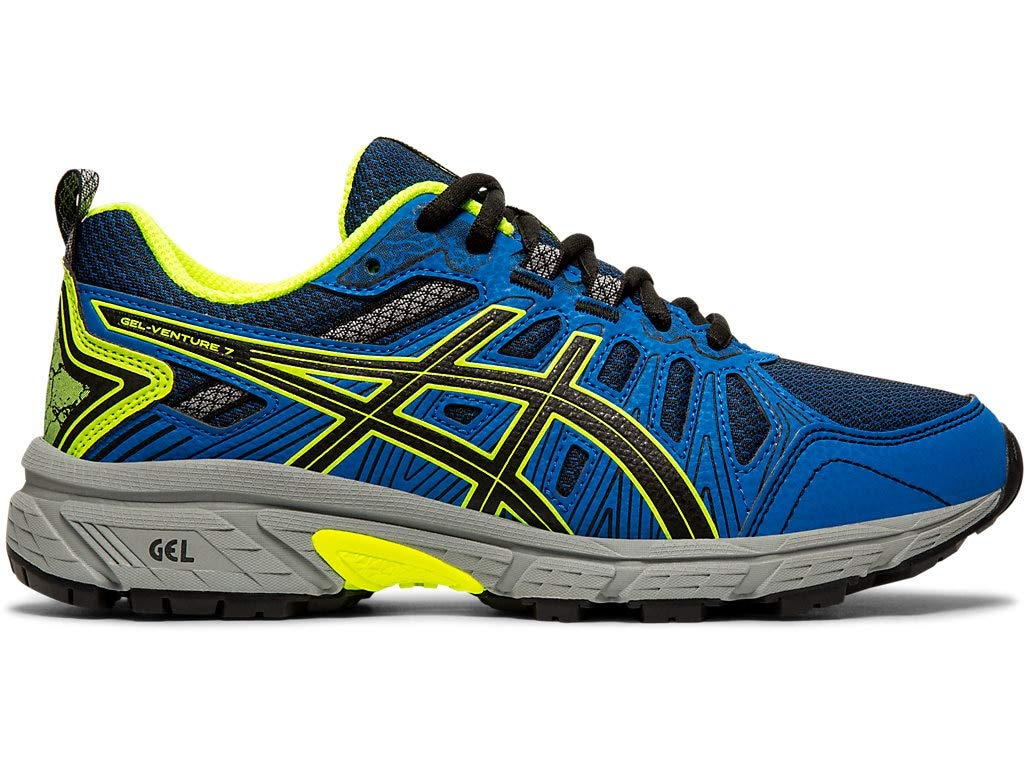ASICS Kid's Gel-Venture 7 GS Running Shoes, 6.5M, Black/Safety Yellow by ASICS