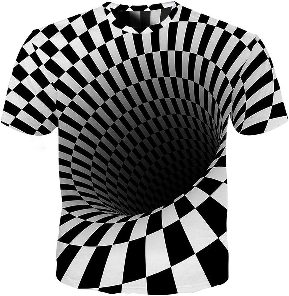 Hombres Spatial Whirlpool Zebra Striped 3D Print Streetwear Mangas Cortas Camisetas 01 S: Amazon.es: Ropa y accesorios