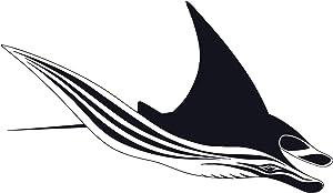 Animal Fish Wall Decal Decor - Ocean Sea Animals Batoidea Vinyl Wall Decor for Living Room Bedroom Office Home Design - Women Men Girls Nursery Animals Wall Stickers Decals Vinyl Décor