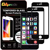 oaproda iphone 7 / 8 ガラスフィルム 液晶全面保護 強化ガラス【ガイド枠付き / 2枚セット】ブラック