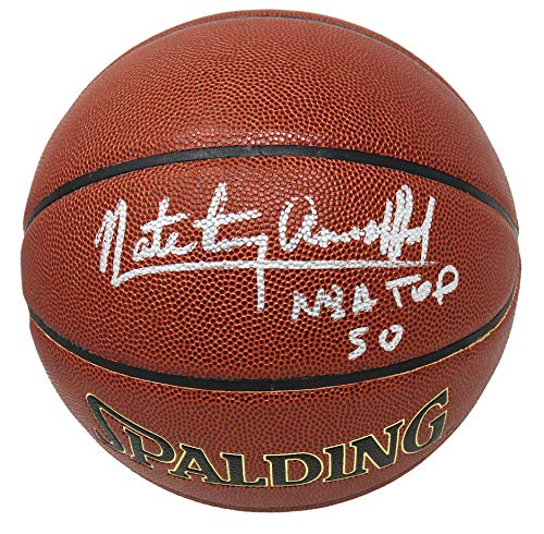 Nate 'Tiny' Archibald Signed Spalding NBA Indoor/Outdoor Basketball w/NBA Top 50 - Autographed Basketballs