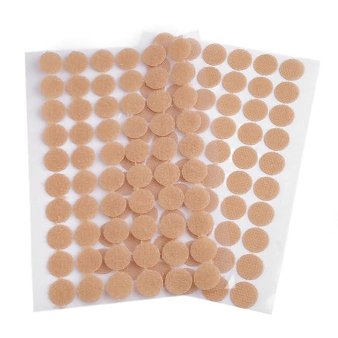 selbstklebend Schwarz oder Wei/ß 35mm Klettpunkte 10 St/ück, Schwarz BIG-SAM