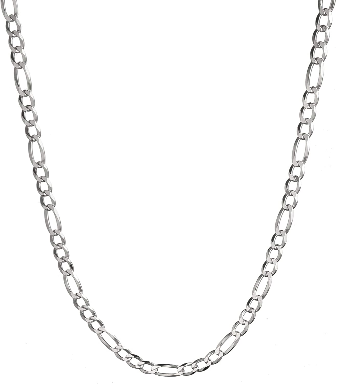 "925  Sterling Silver  Mens Italian 24/""  5 mm Cuban link chain necklace"